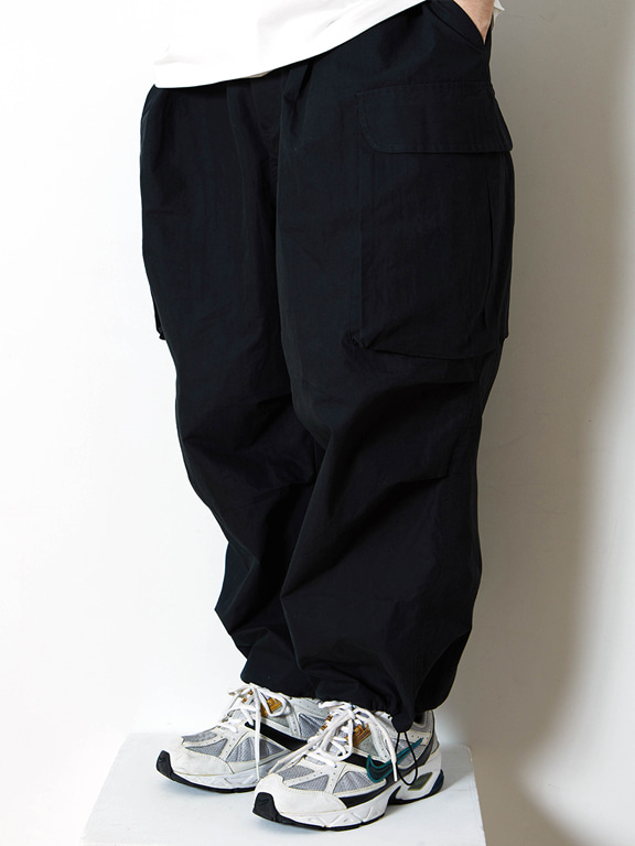 WIDE CARGO PANTS(BLACK)