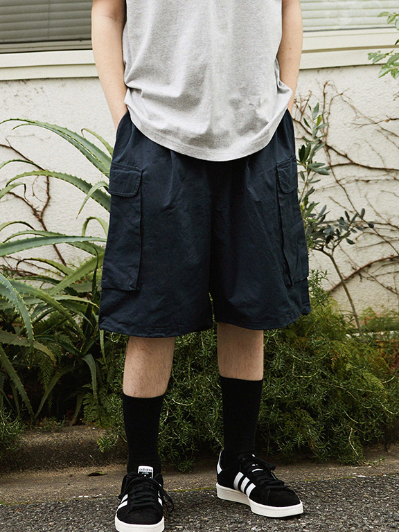 WIDE CARGO SHORTS(DRAK NAVY)
